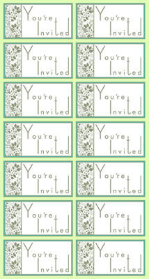 Reminisce - Wedded Bliss - Cardstock Stickers - You're Invited