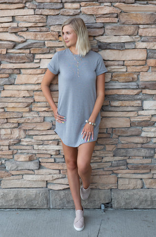 SOFTEST HEART GREY DRESS