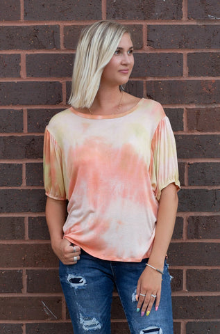 TIE DYES AND SUNRISE TOP