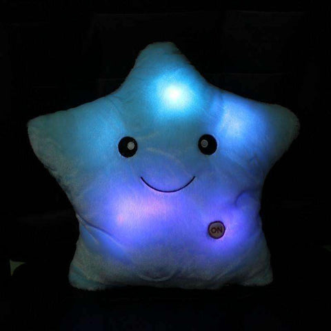 Image of Colorful Star Shape Toys Star Glowing LED Luminous Light Pillow Soft Relax Gift - AMAZOFFER