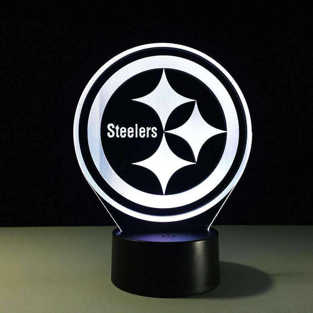 Fantastic 3D Table Lights Team Logo Pittsburgh Steelers Night Light - AMAZOFFER