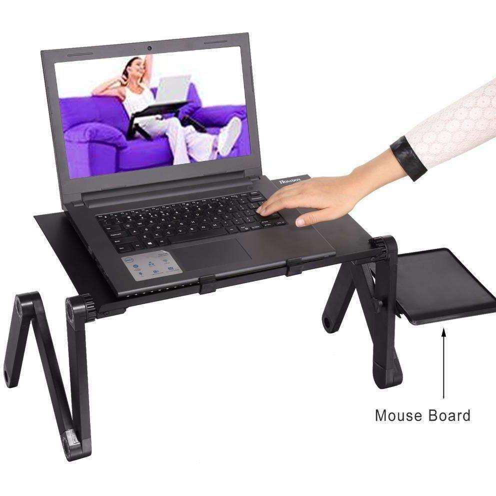Homdox Computer Desk Portable Adjustable Foldable Laptop Notebook Lap PC Folding Desk - AMAZOFFER