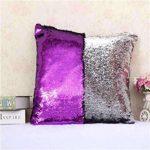 Image of BeddingOutlet Mermaid Sequin Cushion Cover Magical Shining Pillow Case  40X40cm - AMAZOFFER