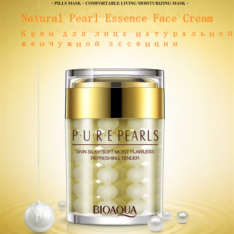 Pure Pearls Face Day Cream Skin Care Whitening Moisturizing Anti Wrinkle Acne Treatment Anti Aging Oil Control Cosmetic - AMAZOFFER
