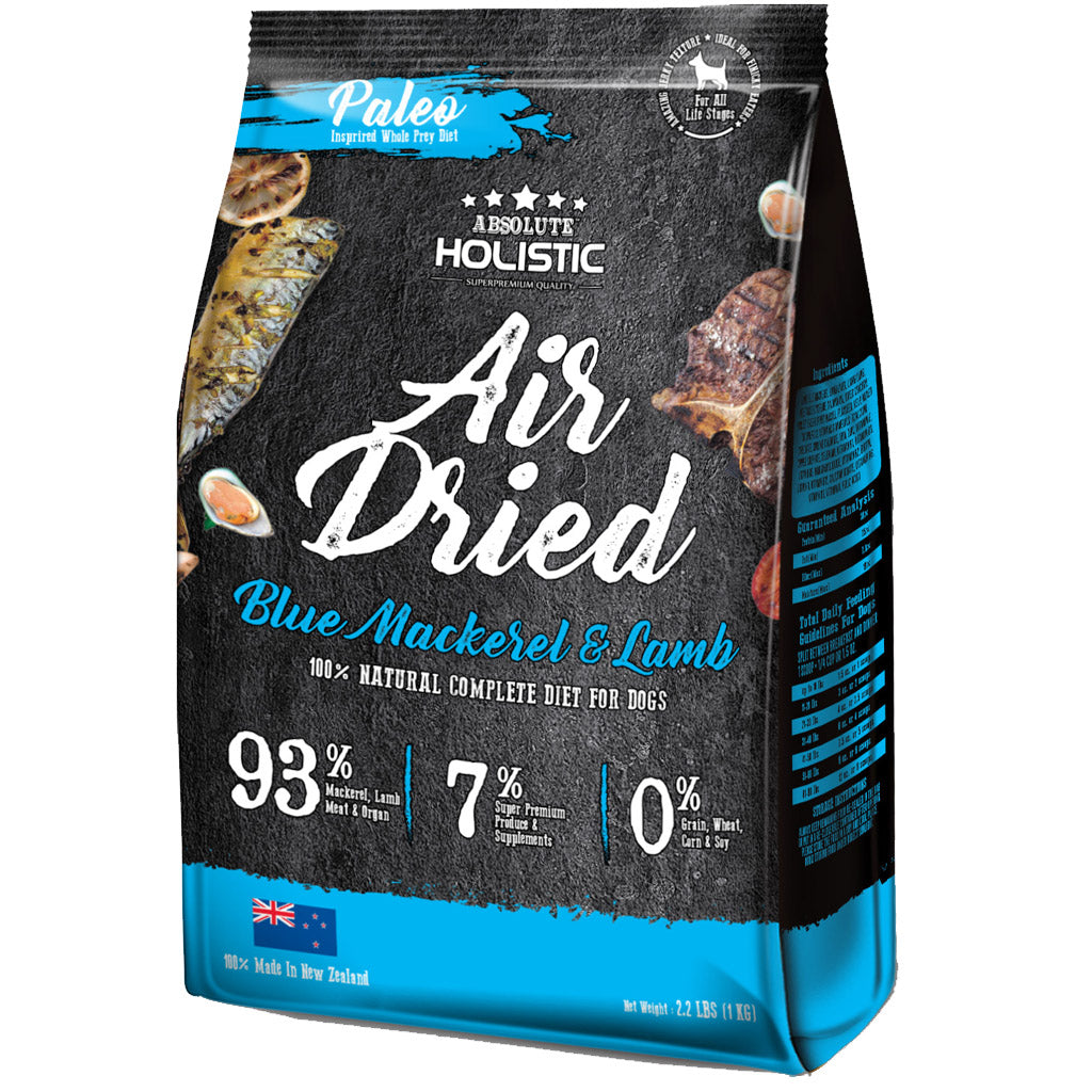 4 FOR $169.90 [SUPER SAVER]: Absolute Holistic® Air-Dried Dog Food 1kg (4 Flavours)