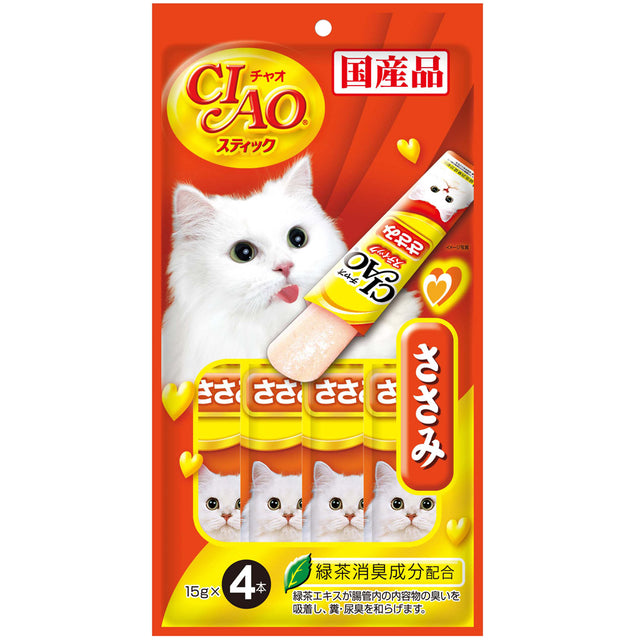 Ciao® Stick Chicken Fillet in Jelly Cat Treat (4x15g)