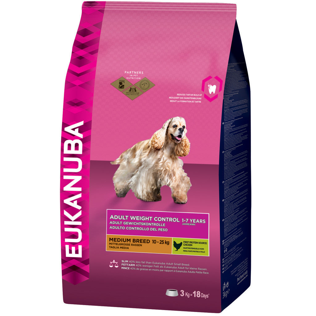 20% OFF: EUKANUBA® Weight Control Small & Medium Breed Dry Dog Food (2 sizes)
