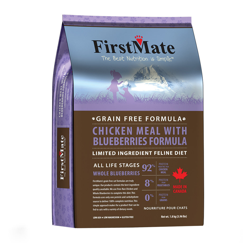 20% OFF: FirstMate® Chicken Meal With Blueberries Grain-Free Dry Cat Food (2 sizes)