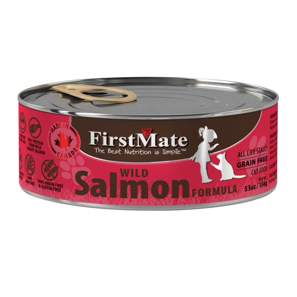 20% OFF: FirstMate® Wild Salmon Formula Grain-Free Canned Cat Food (12/24pcs)