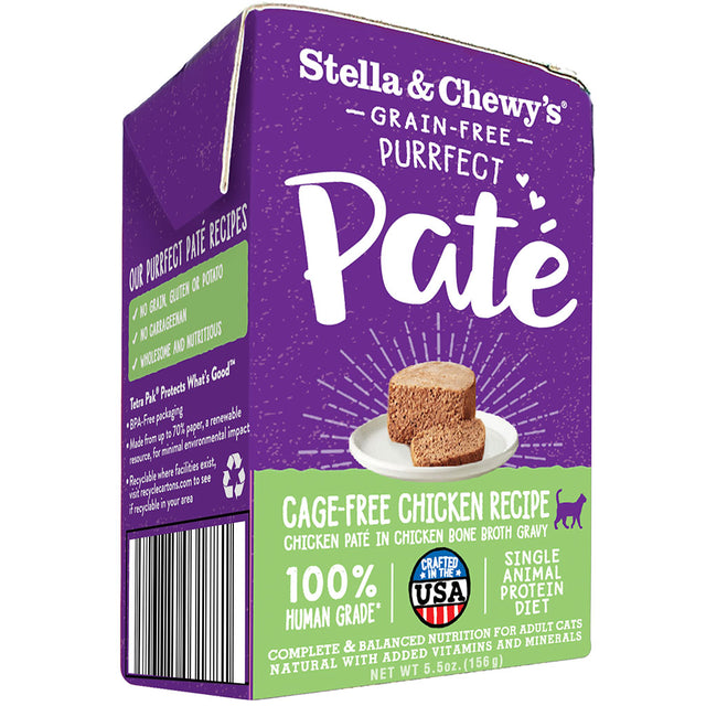 15% OFF [NEW]: Stella & Chewy's® Purrfect Pate Cage-Free Chicken Recipe Wet Cat Food (156g)
