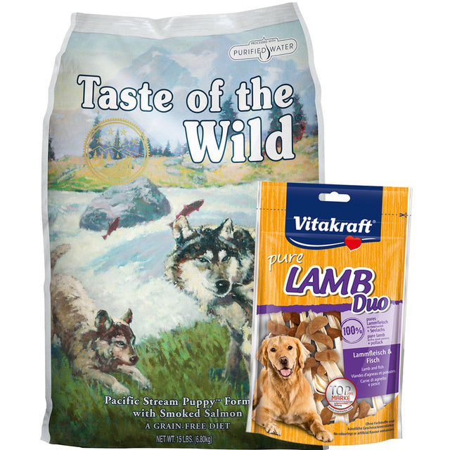 55% OFF + FREE WET FOOD [SAVER]: Taste Of The Wild® Pacific Stream Puppy Grain-Free Dry Dog Food (2 sizes)