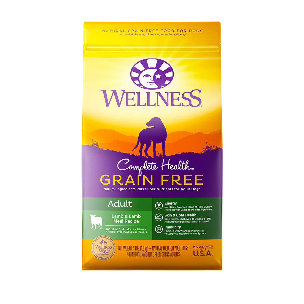 30% OFF + FREE TREATS: Wellness® Complete Health Grain-Free Lamb & Lamb Meal Dry Dog Food (3 sizes)