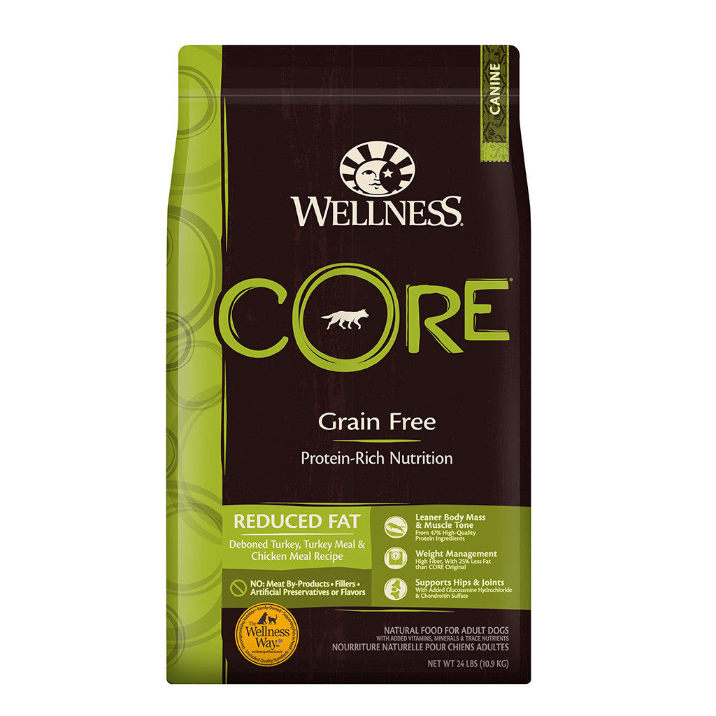 30% OFF + FREE TREATS: Wellness® CORE Reduced Fat Grain-Free Dry Dog Food (3 sizes)