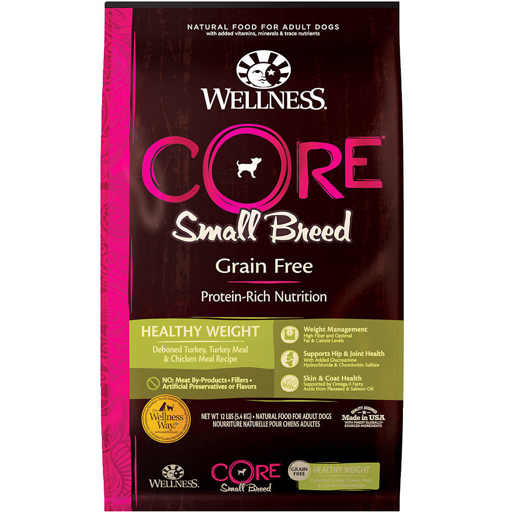 30% OFF + FREE TREAT: Wellness® CORE Small Breed Healthy Weight Grain-Free Dry Dog Food (2 sizes)