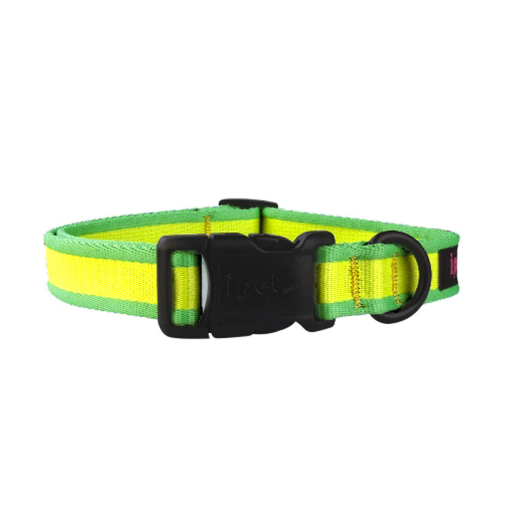 40% OFF: Ipet Mini® Contrast Collection Dog & Cat Collar - Yellow & Green (3 sizes)