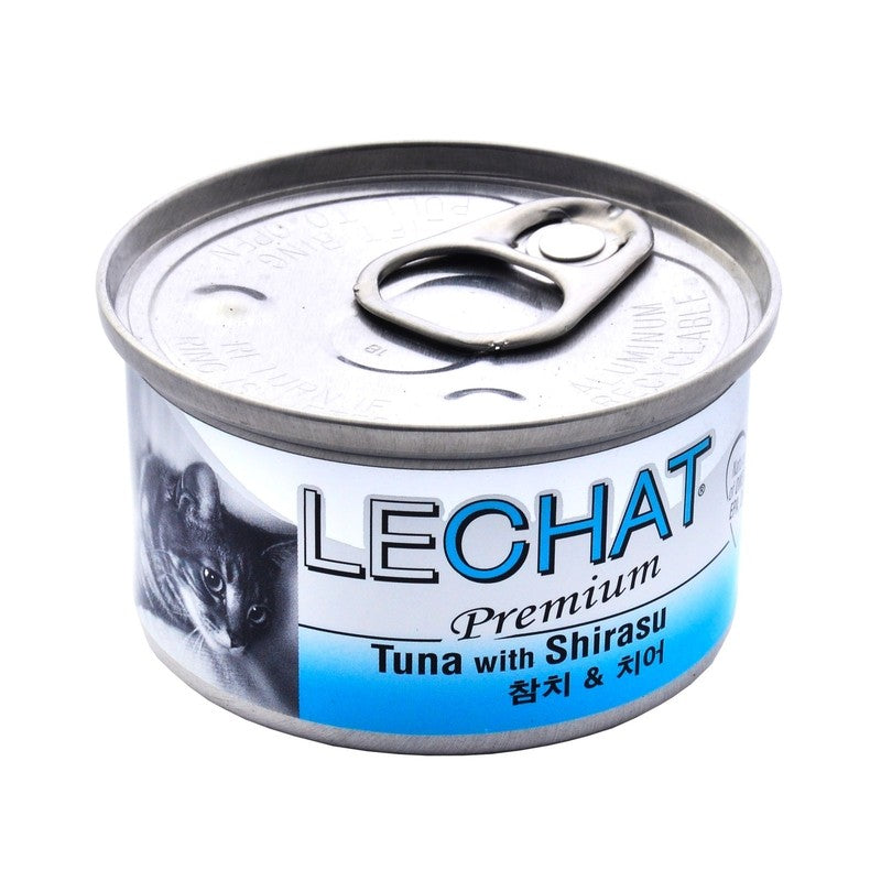15% OFF: LeChat® Premium Tuna with Shirasu Canned Cat Food 80g (24pcs)