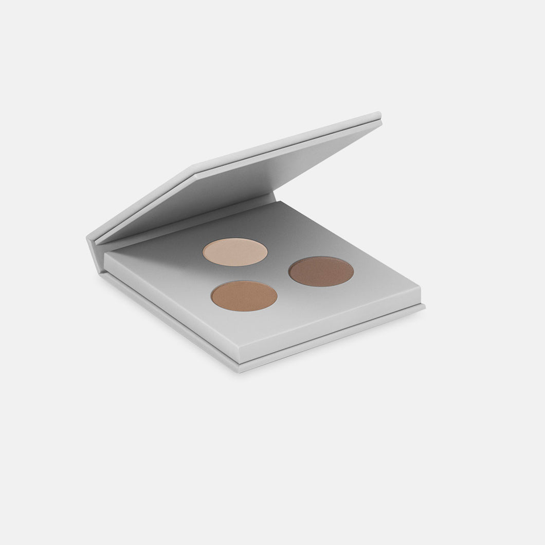 Miild Organic Mineral Eyeshadow/Eyebrow Kit - 02 Dark Stone