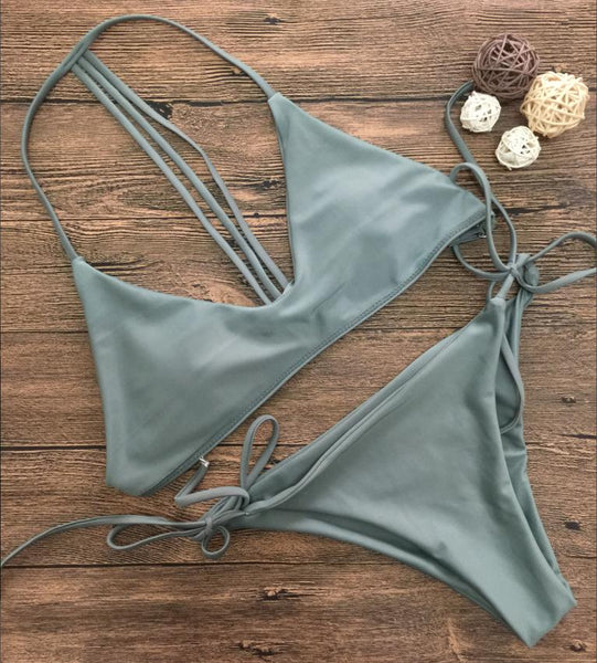Olive Green Bikini Bathing Suits