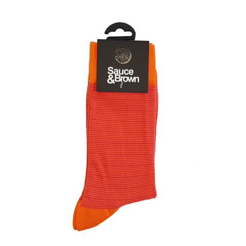 Orange Stripe Socks