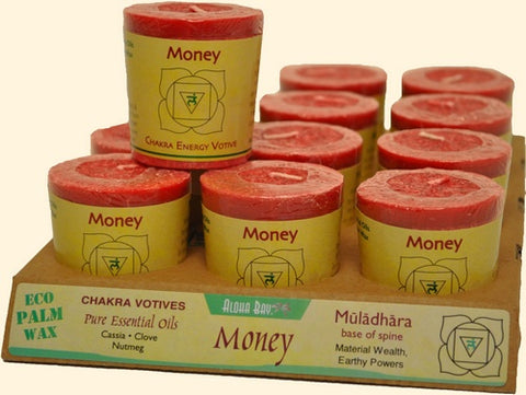 Chakra Energy Votive Candle - Money