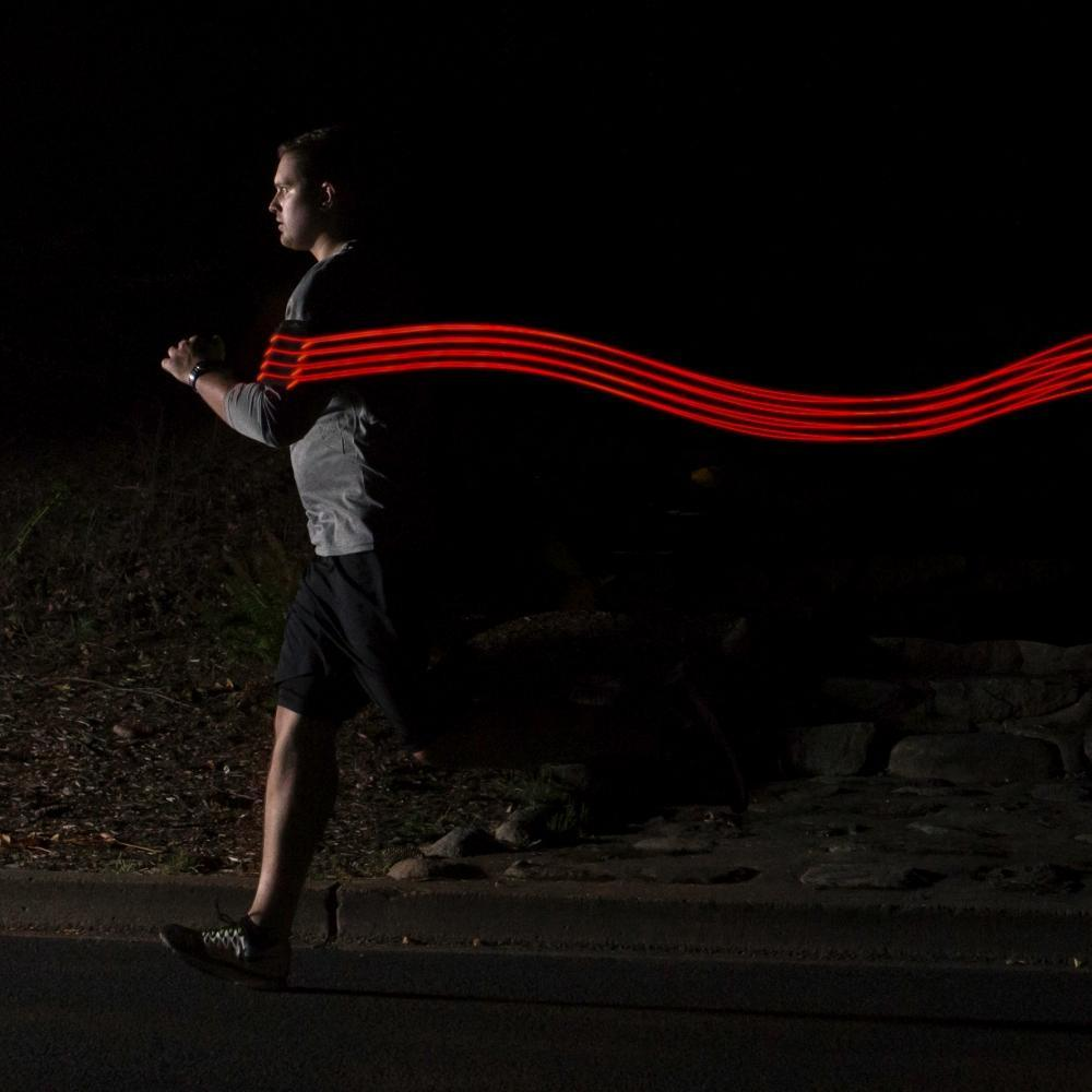 Google Pixel running band with lights