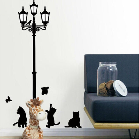 Popular Home Decor Cats and Birds Wall Sticker Decal - FOURPAWPALS
