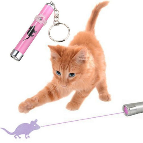 Creative and Funny Pet LED Laser Pointer Toy with Animation Mouse - FOURPAWPALS
