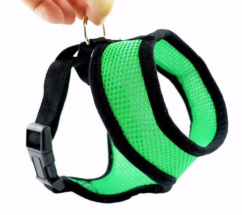 Adjustable Lightweight & Breathable Small Dog, Puppy & Cat Harness for Walking - FOURPAWPALS