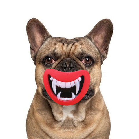 Durable and Safe Funny Fangs Squeaky Dog Toy - FOURPAWPALS