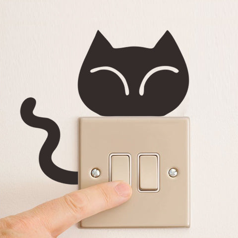 DIY Funny Animal Switch Decal Wall Light Stickers - FOURPAWPALS