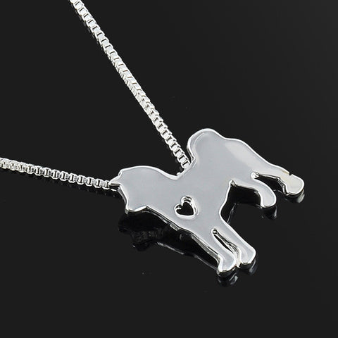 Cute & Stylish Dog Family Stroll Design Pendant Necklace - Different Breed Designs - FOURPAWPALS