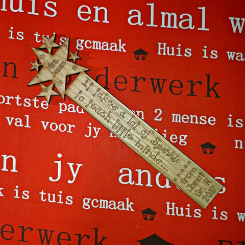 Teacher Sparkle Bookmark