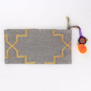 Modern Boho clutch in Grey