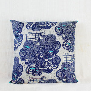 Large Indian Indigo Cushion Cover