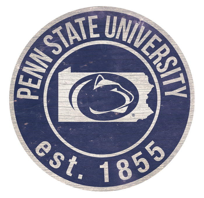 "Penn State with Logo 24"" Round Sign"