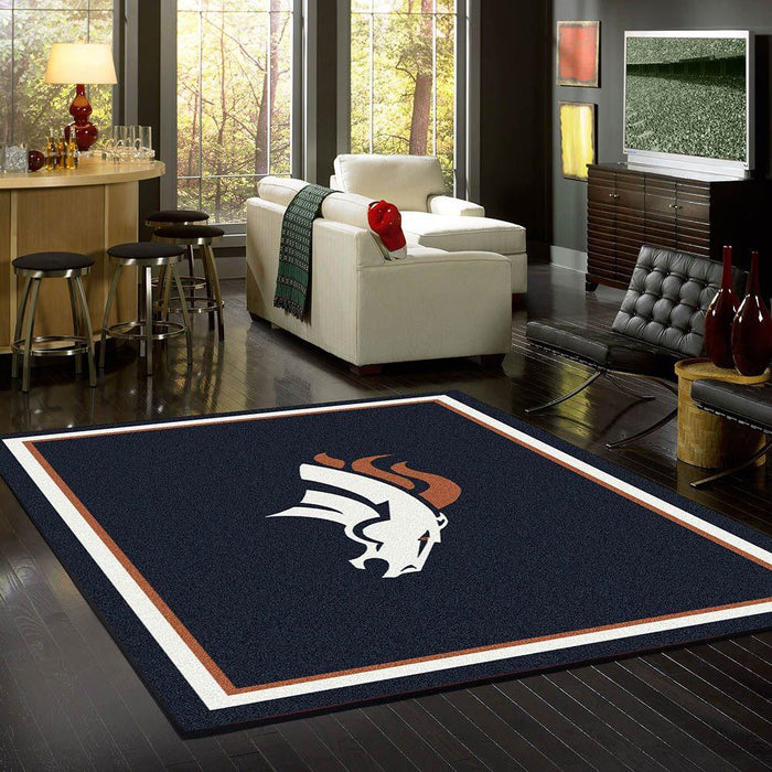 Fan Cave Rugs:Denver Broncos Rug Team Spirit