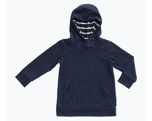 Mello Merino Mini Hoody in Ink available at 2 Little Rascals NZ