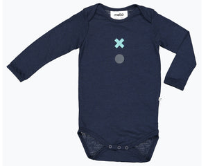 Mello Merino Long Sleeve Bodysuit in Ink available at 2 Little Rascals NZ