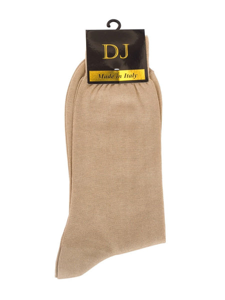 100% Mercerized Cotton Socks -Tan Colour