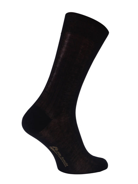 100% Mercerized Cotton Socks  Black