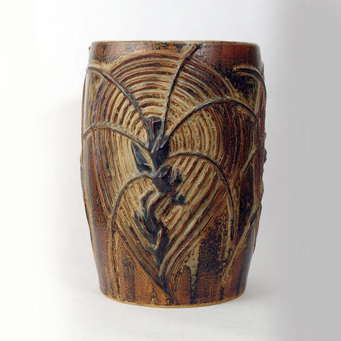 Axel Salto monumental vase for sale, Living Stones, Sung glaze