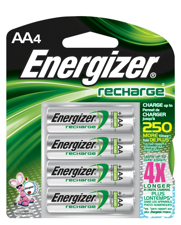 Energizer Rechargeable AA Batteries – 4 Pack