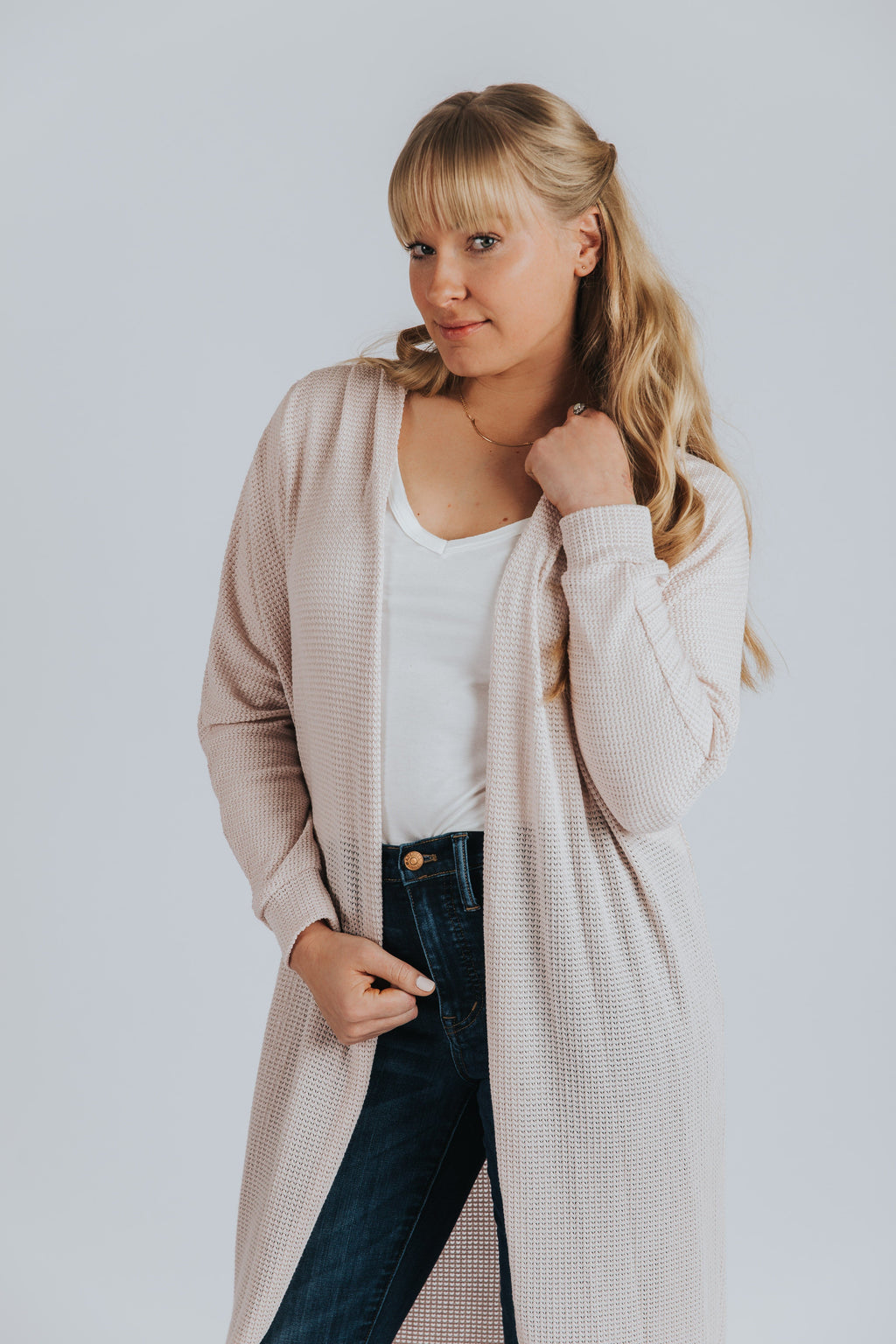 Lucy Cardigan in Blush - Nell and Rose