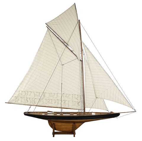 America's Cup Columbia 1901 Model Yacht French Finish, Large