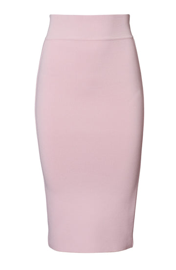 CREPE KNIT TUX SLIT BACK SKIRT, ANGEL color