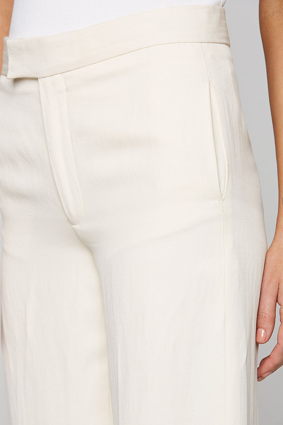 WIDE LEG TROUSER, NATURAL color