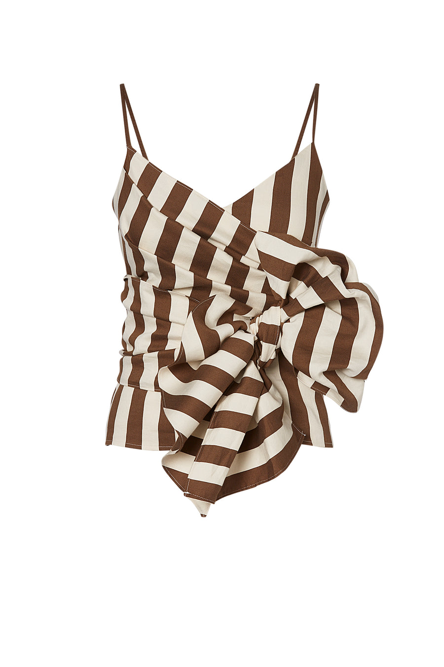 DECK STRIPE WRAP TOP, TOBACCO color