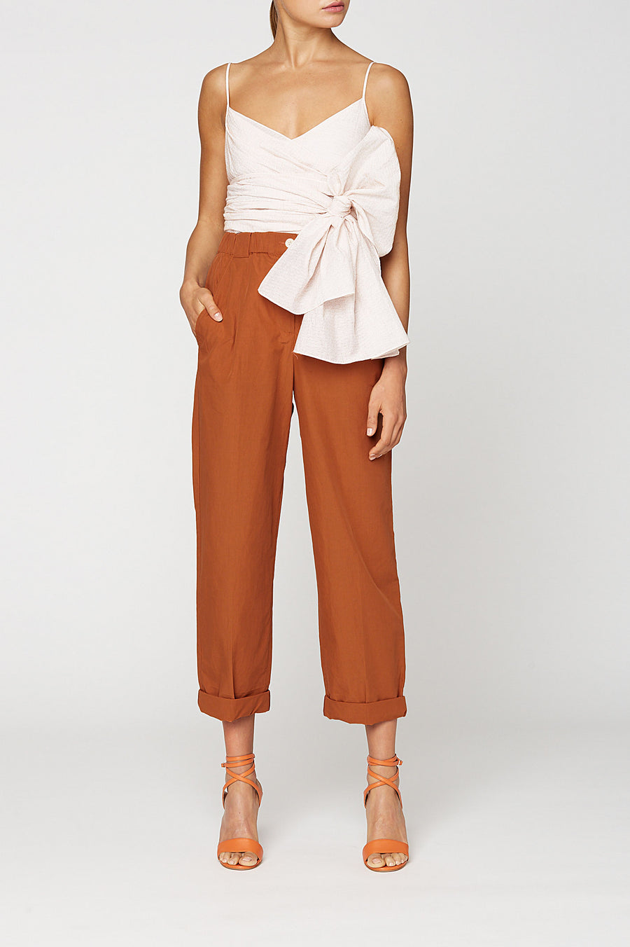 FIL COUPE WRAP TOP, DESERT color