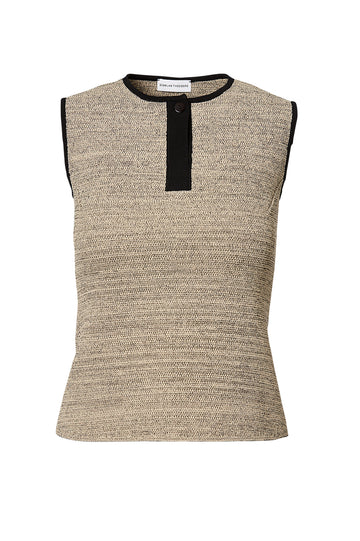 CREPE KNIT TWEED TANK, CONNECTICUT color