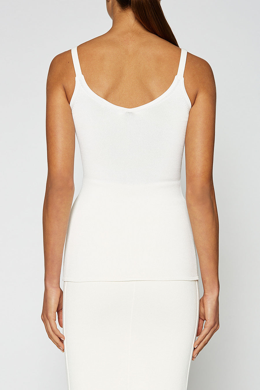 CREPE KNIT CAMISOLE, white color